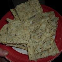 Galletitas saladas de sésamo y chía