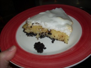 pastel de crema de vainilla