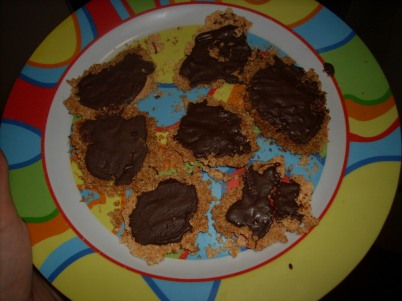 Galletitas de coco y chocolate