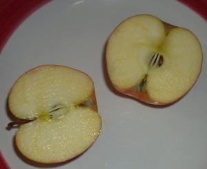 manzanas a la mitad