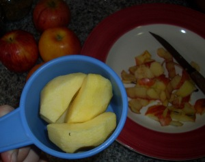 midiendo manzanas