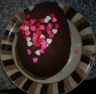 Huevo Chocolate con Corazones