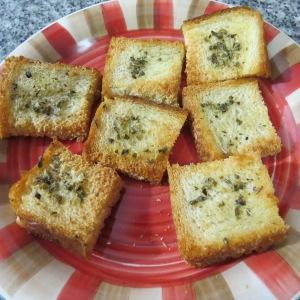 Tostadas con oliva