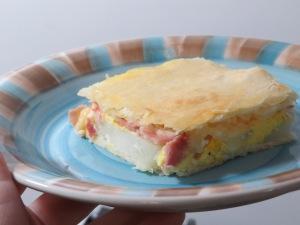 Pastel de papa, jamón y queso