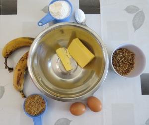 torta de banana y nueces