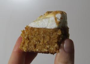 torta de coco y dulce de leche