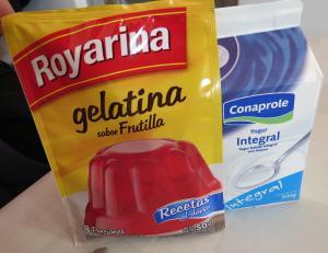 Gelatina de yogur