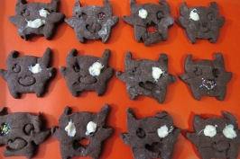 Galletitas de chocolate con forma