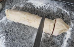 arrolladitos de jamón y queso