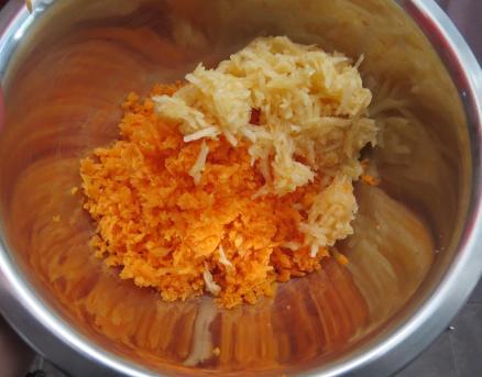 torta zanahoria y manzana