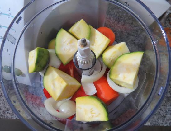 soufflé de verduras