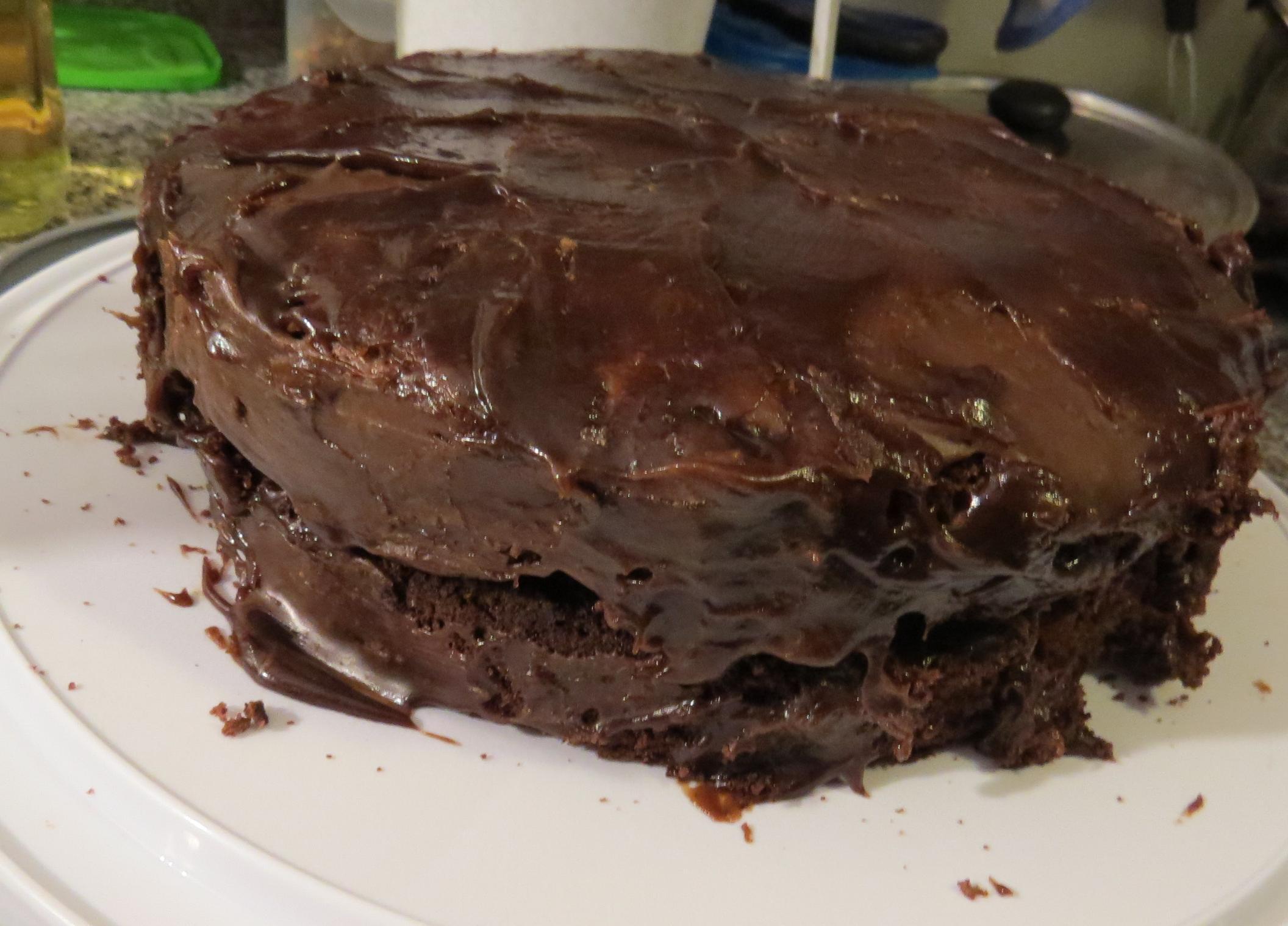 Otra torta de chocolate (de aceite)   Mis recetas