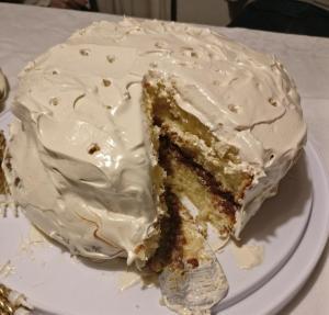 bizcochuelo merengue rubio