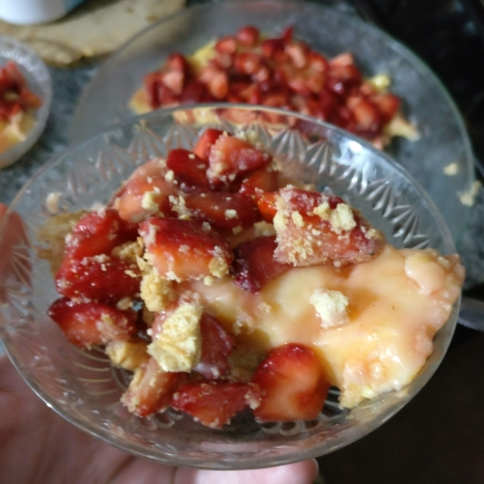 tarta frutillas y crema