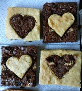 brownies corazón
