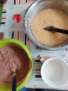torta banana chocolate
