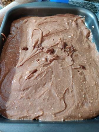 brownies sin huevo